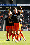 Chris Basham of Sheffield Utd celebrates during the English League One match at  Stadium MK, Milton Keynes. Picture date: April 22nd 2017. Pic credit should read: Simon Bellis/Sportimage
