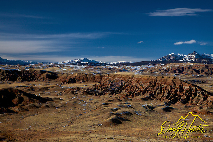 Dubois Badlands, Absaroka Mountains,  Dubois, Wyoming