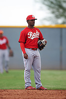 Cincinnati Reds J.D. Salmon-Williams (58) during an instructional league game against the Cleveland Indians on October 17, 2015 at the Goodyear Ballpark Complex in Goodyear, Arizona.  (Mike Janes/Four Seam Images)