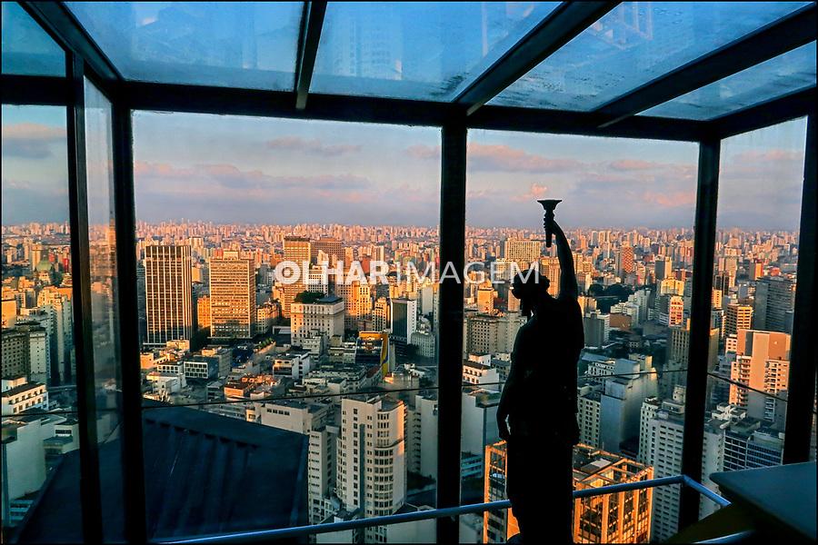 Panoramica do centro da cidade, Sao Paulo. 2018. Foto de Juca Martins.