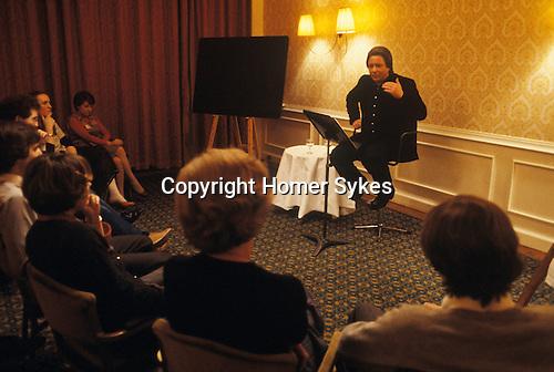 Robert Daubigny real name Robert Fuller at a Exegesis  meeting Great Western Hotel Paddington London 1970s