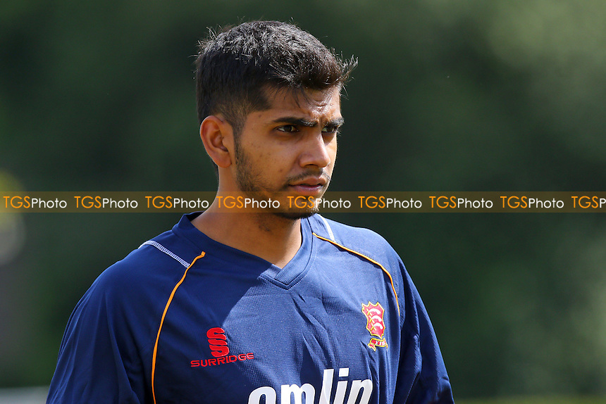 Essex CCC loan signing (from Middlesex) Ravi Patel looks on ahead of play on Day One