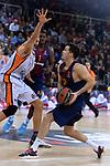 Turkish Airlines Euroleague 2017/2018.<br /> Regular Season - Round 8.<br /> FC Barcelona Lassa vs Valencia Basket: 89-71.<br /> Tibor Pleiss vs Thomas Heurtel.