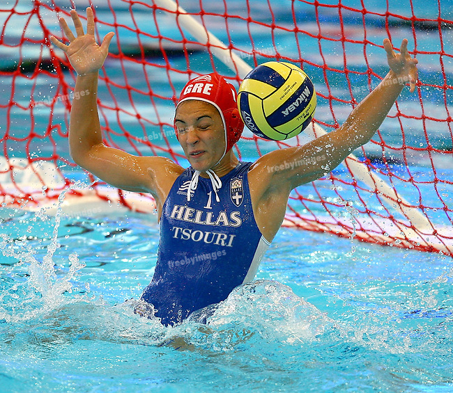 12th Fina World Swimming Championships, Womens Water polo 21st March, Netherlands v Greece,  Maria Tsouri makes a save