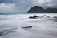 Utakleiv beach, Vestvagoy, Lofoten Islands, Norway