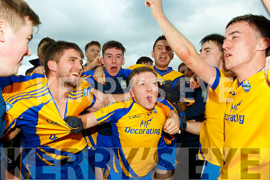 Beaufort Michael John O'Connor and Danny Healy celebrate their victory in the Mid Kerry final in Killorglin on Sunday