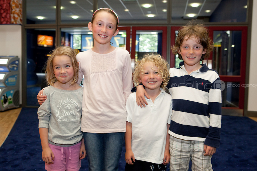 15/7/2011. Skye, Lilly Mae, Max and Oscar Butler are pictured at the opening of UCI Stillorgan. Picture Collins Photo Agency.