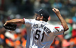 Reno Aces&rsquo; Josh Collmenter pitches against the Iowa Cubsat Greater Nevada Field in Reno, Nev., on Tuesday, May 17, 2016. <br />Photo by Cathleen Allison