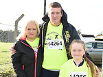Vinnie, Tanya and Caoimhe Gunn pictured at the Wild Goose Chase at Reaghstown. Photo:Colin Bell/pressphotos.ie