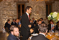 Switserland, Genève, September 16, 2015, Tennis,   Davis Cup, Switserland-Netherlands, location of the official diner, Domaine du Clos Du Chateau,  Roger Federer is being presented<br /> Photo: Tennisimages/Henk Koster