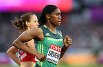 Caster SEMENYA (RSA) in the womens 800m semi-final. IAAF world athletics championships. London Olympic stadium. Queen Elizabeth Olympic park. Stratford. London. UK. 11/08/2017. ~ MANDATORY CREDIT Garry Bowden/SIPPA - NO UNAUTHORISED USE - +44 7837 394578