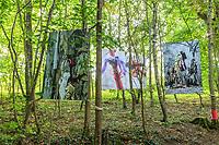 Festival International des Jardins de Chaumont-sur-Loire, thème de lannée 2010, Jardins corps et âmes : arbres à loques par Béatrice Saurel.<br /> (Mention obligatoire  Festival des Jardin de Chaumont-sur-Loire et des créateurs des jardins et pas d'usage publicitaire sans autorisation préalable)