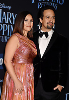 LOS ANGELES, CA - NOVEMBER 29: Lin-Manuel Miranda (R) and Vanessa Nadal attend the Premiere Of Disney's 'Mary Poppins Returns' at El Capitan Theatre on November 29, 2018 in Los Angeles, California.<br /> CAP/ROT/TM<br /> &copy;TM/ROT/Capital Pictures