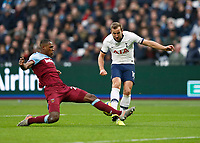 23rd November 2019; London Stadium, London, England; English Premier League Football, West Ham United versus Tottenham Hotspur; Angelo Ogbonna of West Ham United  blocks Harry Kane of Tottenham Hotspur shot - Strictly Editorial Use Only. No use with unauthorized audio, video, data, fixture lists, club/league logos or 'live' services. Online in-match use limited to 120 images, no video emulation. No use in betting, games or single club/league/player publications