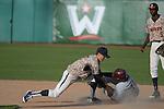 May 23, 2014; Stockton, CA, USA; Pepperdine Waves infielder Hutton Moyer (2) during the WCC Baseball Championship at Banner Island Ballpark.