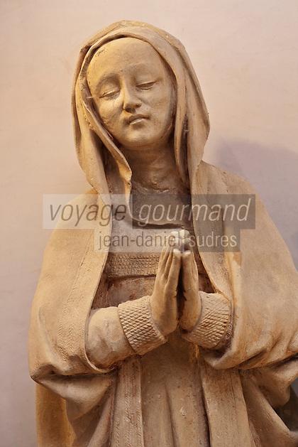 Europe/Europe/France/Midi-Pyrénées/46/Lot/Carennac: Mise au tombeau du XV ème dans la salle  capitulaire du cloitre -  Détail: Marie-Salomé
