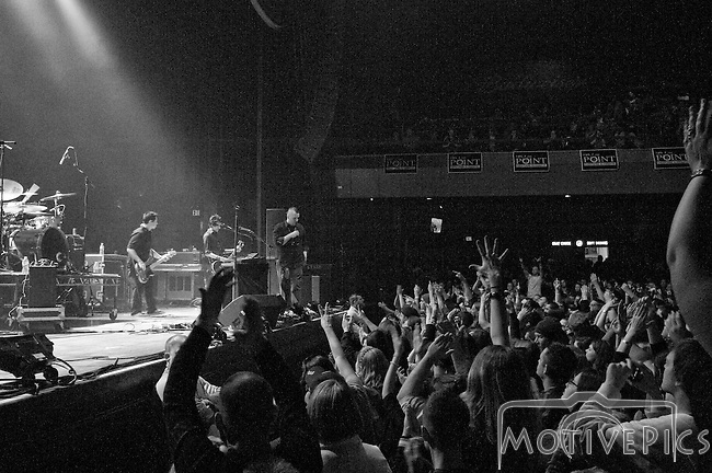 Blue October opening for Staind at The Pageant for 105.7 The Point Ho Ho Show #2, December 2011.
