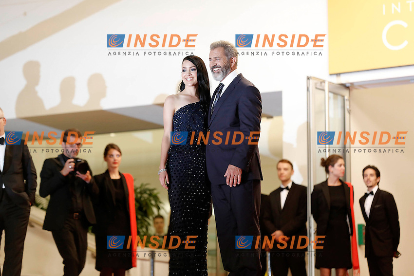 Mel Gibson et sa femme <br /> Cannes 21-05-2016 <br /> Festival del Cinema di Cannes 2016<br /> Foto Panoramic / Insidefoto