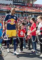 April 27, 2013: New York Red Bulls forward Thierry Henry #14 leads the team onto the pitch in a game between Toronto FC and the New York Red Bulls at BMO Field  in Toronto, Ontario Canada..The New York Red Bulls won 2-1.