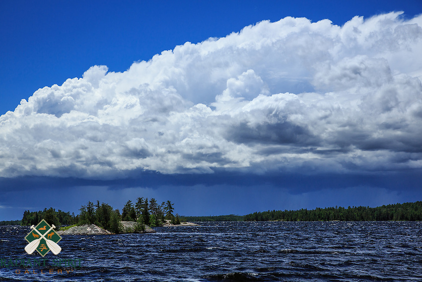 &quot;Storm Cloud over Basswood Lake&quot;<br /> <br /> An impressive display of wind and rain make for an interesting afternoon on Basswood Lake in Quetico Provincial Park.<br /> ~ Day 102 of Inspired by Wilderness: A Four Season Solo Canoe Journey
