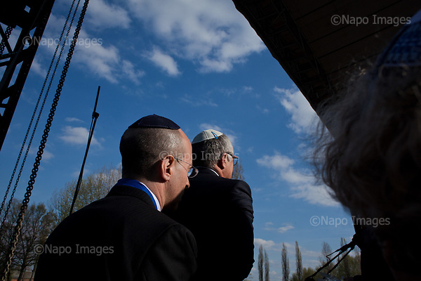 OSWIECIM, POLAND, APRIL 24, 2017:<br /> Elisha Wiesel, before lighting a torch in the memory of his father Eli Wiesel, during the &quot;March of The Living&quot; an annual march between two camps of the Auschwitz concentration camp.  Elisha Wiesel is a chief technology officer at Goldman Sachs in New York and the only son of Holocaust memoirist Eli Wiesel. After death of his father he has decided to step forward and take a more public role, carrying on his father's work.<br /> (Photo by Piotr Malecki / Napo Images)<br /> ###<br /> OSWIECIM, 24/04/2017:<br /> Elisha Wiesel, syn slawnego Eli Wiesela, bierze udzial w Marszu Zywych w Oswiecimiu. Po smierci ojca Elisha postanowil kontynuoawc jego dzielo.<br /> Fot: Piotr Malecki / Napo Images<br /> <br /> ###ZDJECIE MOZE BYC UZYTE W KONTEKSCIE NIEOBRAZAJACYM OSOB PRZEDSTAWIONYCH NA FOTOGRAFII###