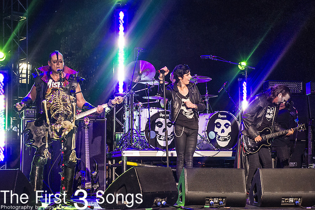 """The Misfits - Andy Biersack, Jerry Only, Dez Cadena, and Eric """"Chupacabra"""" Arce"""