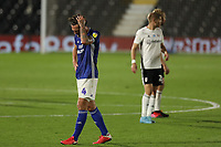 30th July 2020; Craven Cottage, London, England; English Championship Football Playoff Semi Final Second Leg, Fulham versus Cardiff City; A dejected Sean Morrison of Cardiff City after Cardiff City are knocked out of the playoffs