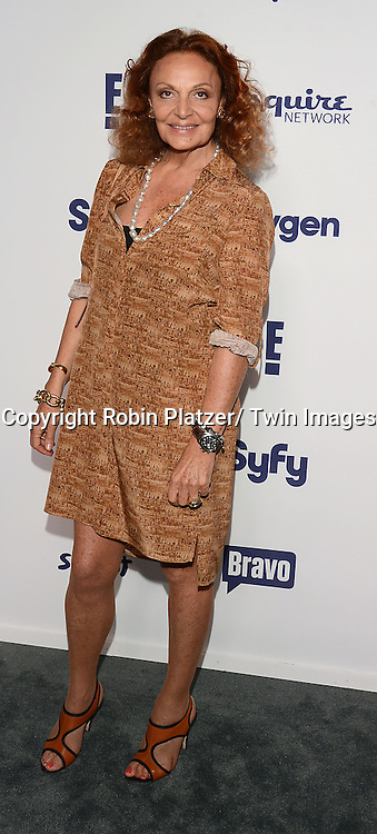Diane von Furstenberg attends the NBCUniversal Cable Entertainment Upfront <br /> on May 15, 2014 at The Javits Center North Hall in New York City, New York, USA.