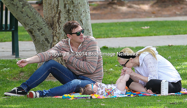Pictured: Jaime King, Kyle Newman, James<br /> Mandatory Credit &copy; Isaac V/Broadimage<br /> Jaime King and family at the Coldwater Canyon Park in Beverly Hills<br /> <br /> 3/29/14, Beverly Hills, California, United States of America<br /> <br /> Broadimage Newswire<br /> Los Angeles 1+  (310) 301-1027<br /> New York      1+  (646) 827-9134<br /> sales@broadimage.com<br /> http://www.broadimage.com