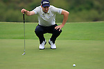 Ross Fisher (ENG) lines up his putt on the 8th green during Day 2 of the Volvo World Match Play Championship in Finca Cortesin, Casares, Spain, 20th May 2011. (Photo Eoin Clarke/Golffile 2011)