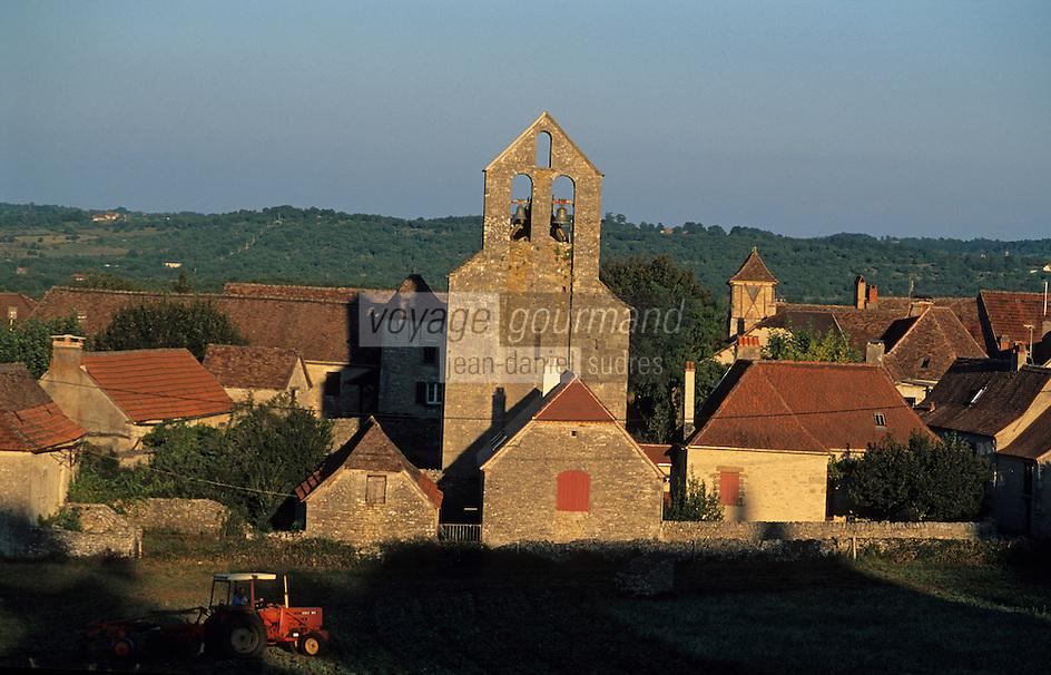 Europe/France/Midi-Pyrénées/46/Lot/Mayrinhac-Lentour: Le village
