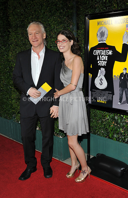 WWW.ACEPIXS.COM . . . . . ....September 15 2009, LA....Bill Maher (L) and his guest Tera Santa Maria arriving at the LA screening of  'Capitalism: A Love Story' on September 15, 2009 in Beverly Hills, California.....Please byline: JOE WEST- ACEPIXS.COM.. . . . . . ..Ace Pictures, Inc:  ..(646) 769 0430..e-mail: info@acepixs.com..web: http://www.acepixs.com