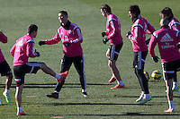 Benzema, Kehedira, Coentrao, Bale and Cristiano Ronaldo during a sesion training at Real Madrid City in Madrid. January 23, 2015. (ALTERPHOTOS/Caro Marin) /NortePhoto<br />