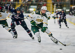21 November 2017: University of Vermont Catamount defenseman Cory Thomas in first period action against the University of Connecticut Huskies at Gutterson Fieldhouse in Burlington, Vermont. The Huskies defeated the Catamounts 4-1 in Hockey East play. Mandatory Credit: Ed Wolfstein Photo *** RAW (NEF) Image File Available ***