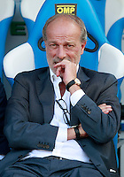 "Calcio, Serie A: Empoli vs Roma. Empoli, stadio ""Carlo Castellani"" 13 settembre 2014. <br /> AS Roma sporting director Walter Sabatini sits on the bench prior to the start of the Italian Serie A football match between Empoli and AS Roma at Empoli's ""Carlo Castellani"" stadium, 13 September 2014.<br /> UPDATE IMAGES PRESS/Isabella Bonotto"