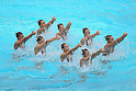 Japan team group (JPN), ..AUGUST 14, 2011 - Synchronised Swimming : Mermaid Japan Cup 2011, Synchronized Swimming Japan National team perform during the Exhibition..at Kyoto Aquarena, Japan. ..(Photo by Akihiro Sugimoto/AFLO SPORT) [1080]