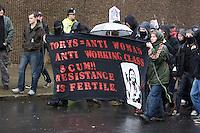 Anarchist Block @ Right To Work Demo Birmingham Oct 2010