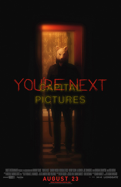 POSTER ART<br /> in You're Next (2011) <br /> *Filmstill - Editorial Use Only*<br /> CAP/FB<br /> Image supplied by Capital Pictures