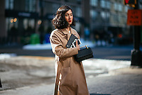 Street Style at Day 7 of New York Fashion Week on Feb 18, 2015 (Photo by Hunter Abrams/Guest of a Guest)
