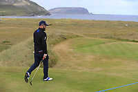 Andy Sullivan (ENG) walks off the par3 14th tee during Thursday's Round 1 of the 2018 Dubai Duty Free Irish Open, held at Ballyliffin Golf Club, Ireland. 5th July 2018.<br /> Picture: Eoin Clarke | Golffile<br /> <br /> <br /> All photos usage must carry mandatory copyright credit (&copy; Golffile | Eoin Clarke)