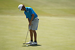 19 MAY 2016: Manuel Torres of Lynn University attempts a putt during the 2016 Division II Men's Individual Golf Championship held at Green Valley Ranch Golf Club in Denver, CO. Justin Tafoya/NCAA Photos