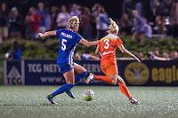 Allston, MA - Wednesday Aug. 31, 2016: Kassey Kallman, Rachel Daly during a regular season National Women's Soccer League (NWSL) match between the Boston Breakers and the Houston Dash at Jordan Field.