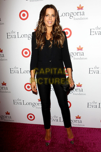 Kate Beckinsale<br /> Annual Eva Longoria Foundation Dinner held a Beso Restaurant, Hollywood, CA., USA.<br /> September 28th, 2013<br /> full length black clutch bag toe cap gold pink suit blazer trousers toe shoes   <br /> CAP/ADM/KB<br /> &copy;Kevan Brooks/AdMedia/Capital Pictures