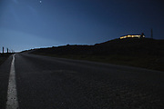 Mount Washington Auto Road near the summit in the White Mountains, New Hampshire USA during the night
