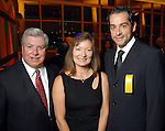 From left: Roland Rodriguez, Linda Gonzalez and Inaki Orozco at the Hispanic Chamber of Commerce's annual Triunfando Awards Show and Dinner at the Hobby Center Saturday Nov. 14,2009. (Dave Rossman/For the Chronicle)