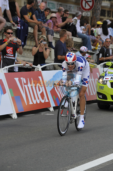 FDJ team rider Jeremy Roy (FRA) in the last kilometre during the Prologue Stage 1 of the 2009 Tour de France a 15.5km individual time trial held around Monaco. 4th July 2009 (Photo by Eoin Clarke/NEWSFILE)