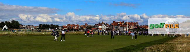 James Sugrue (GB&I) on the 1st fairway during Day 2 Singles at the Walker Cup, Royal Liverpool Golf CLub, Hoylake, Cheshire, England. 08/09/2019.<br /> Picture Thos Caffrey / Golffile.ie<br /> <br /> All photo usage must carry mandatory copyright credit (© Golffile | Thos Caffrey)