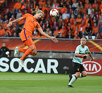 20170724 - TILBURG , NETHERLANDS : Belgian Laura Deloose (R) and Dutch Vivianne Miedema (L)  pictured during the female soccer game between Belgium and The Netherlands  , the thirth game in group A at the Women's Euro 2017 , European Championship in The Netherlands 2017 , Monday 24 th June 2017 at Stadion Koning Willem II  in Tilburg , The Netherlands PHOTO SPORTPIX.BE | DIRK VUYLSTEKE