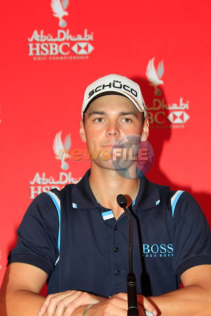 Overnight leader by 5 shots Martin Kaymer at the end of Day 3 Saturday of the Abu Dhabi HSBC Golf Championship, 22nd January 2011..(Picture Eoin Clarke/www.golffile.ie)