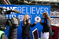Harrison, NJ - Sunday March 04, 2018: Female Live Hosts during a 2018 SheBelieves Cup match match between the women's national teams of the United States (USA) and France (FRA) at Red Bull Arena.